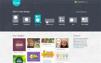 User -homepage -screenshot